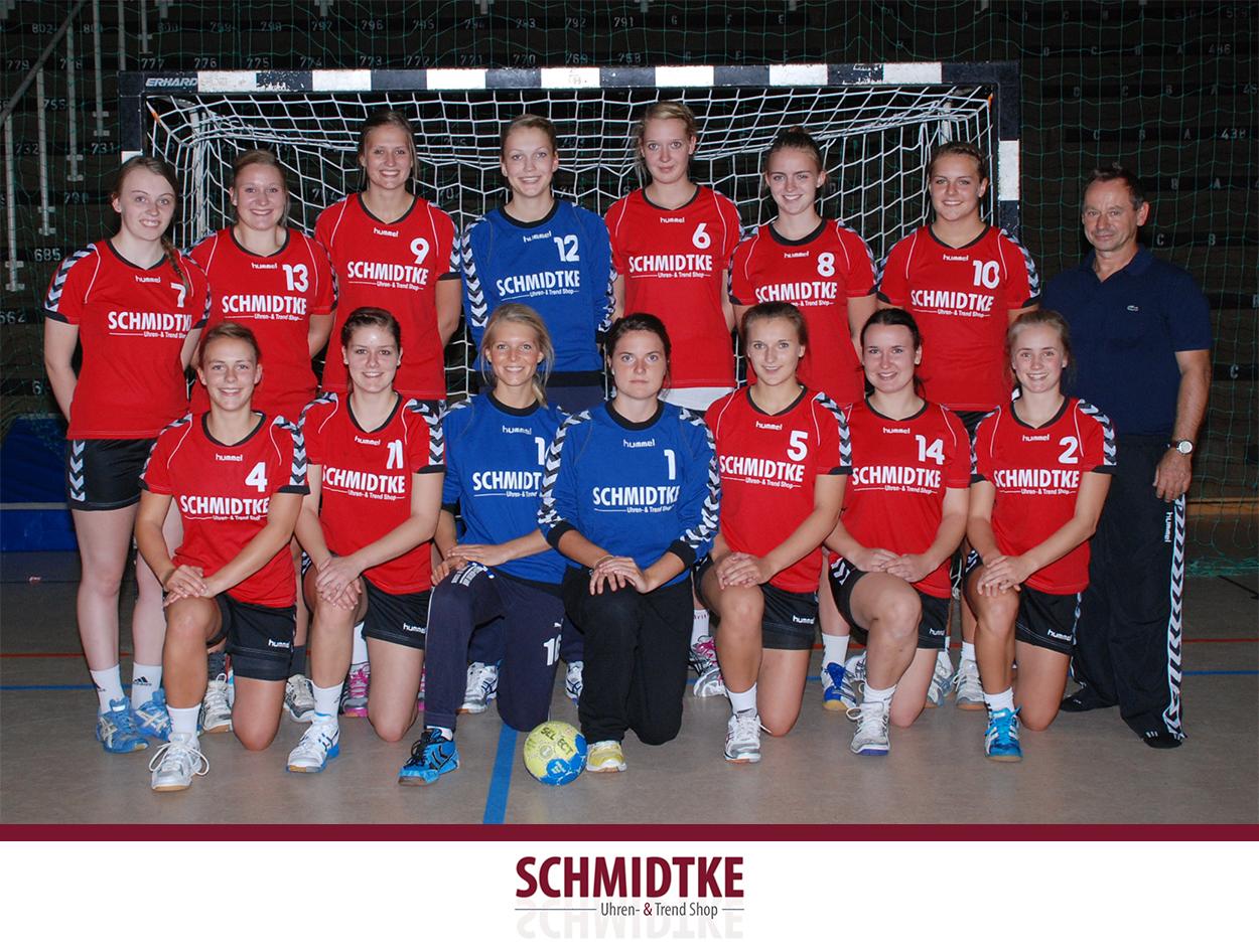 Gesponsorte Handballmannschaft